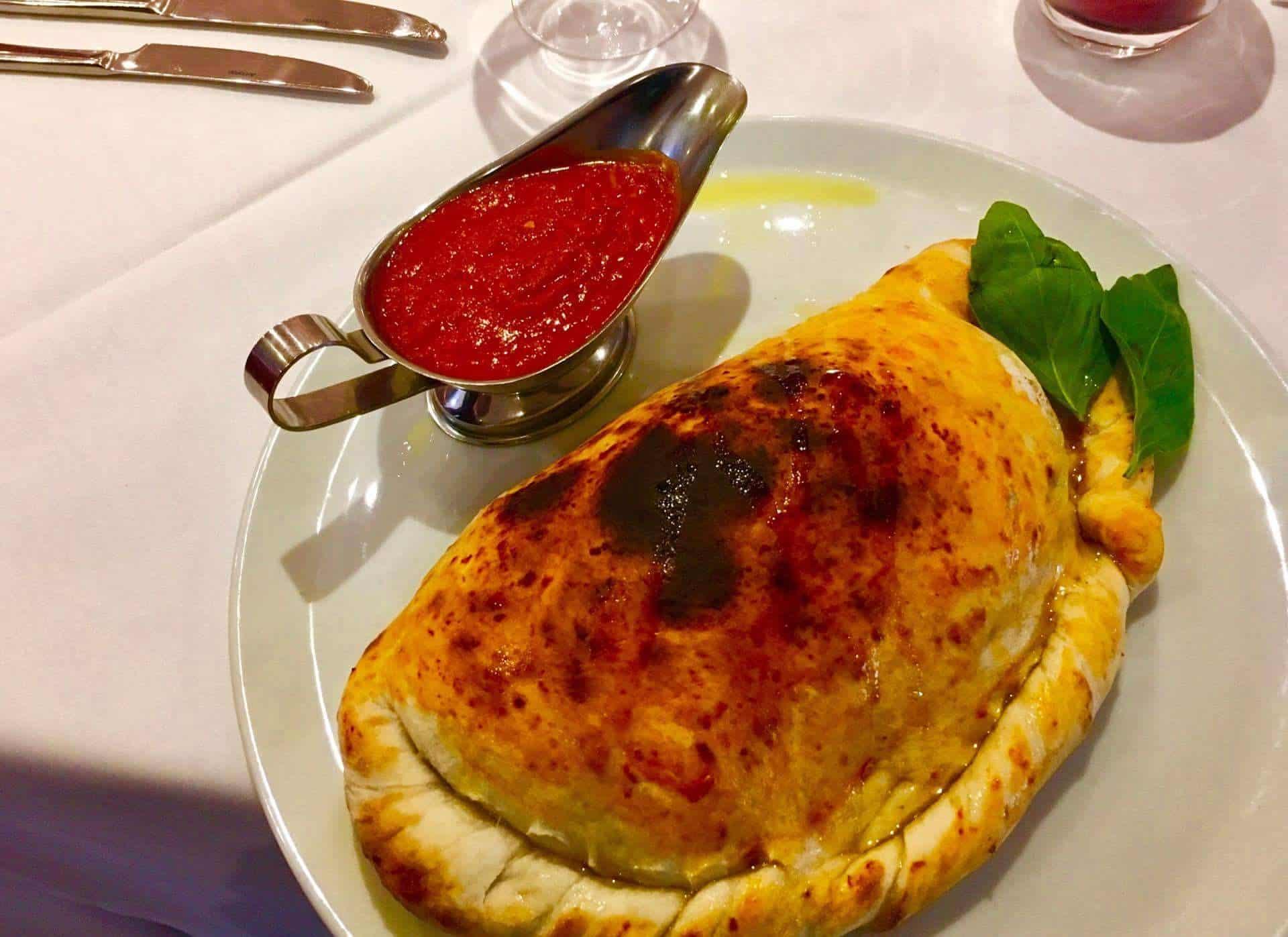 Calzone Giovannis food italian restaurant knutsford