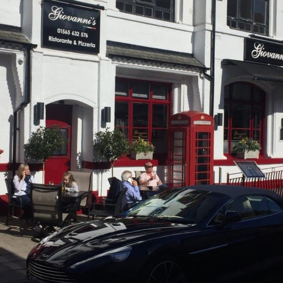 Front of Restaurant Giovanni's Italian restaurant knutsford