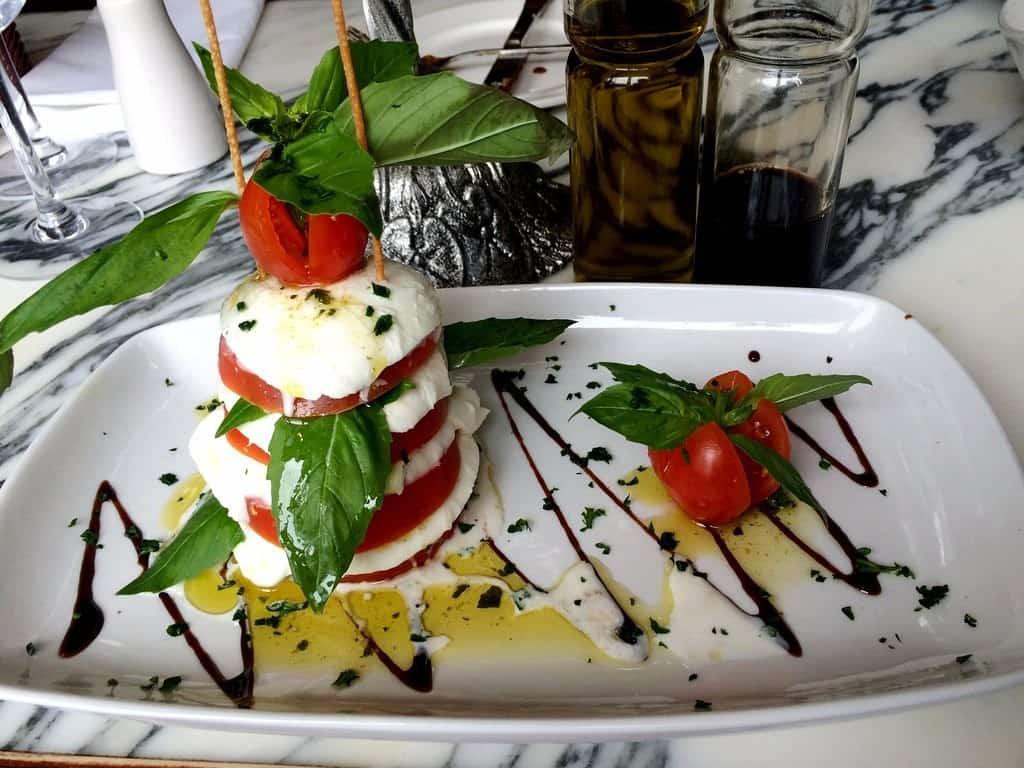 caprese-salad Giovannis food italian restaurant knutsford