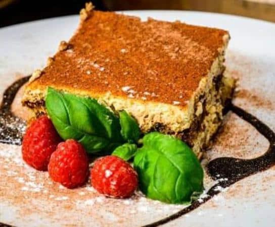 tiramisu Giovannis food italian restaurant knutsford